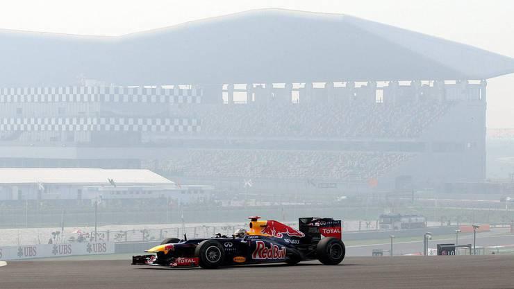 Vettel ist auch in Indien nicht zu bremsen.