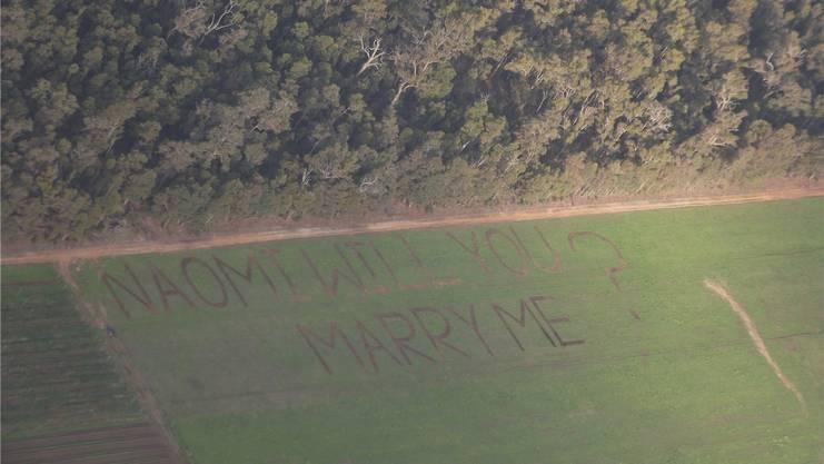 Der Heiratsantrag von Ueli an Naomi war ein Highlight, das es sogar in die australische Presse geschafft hat.