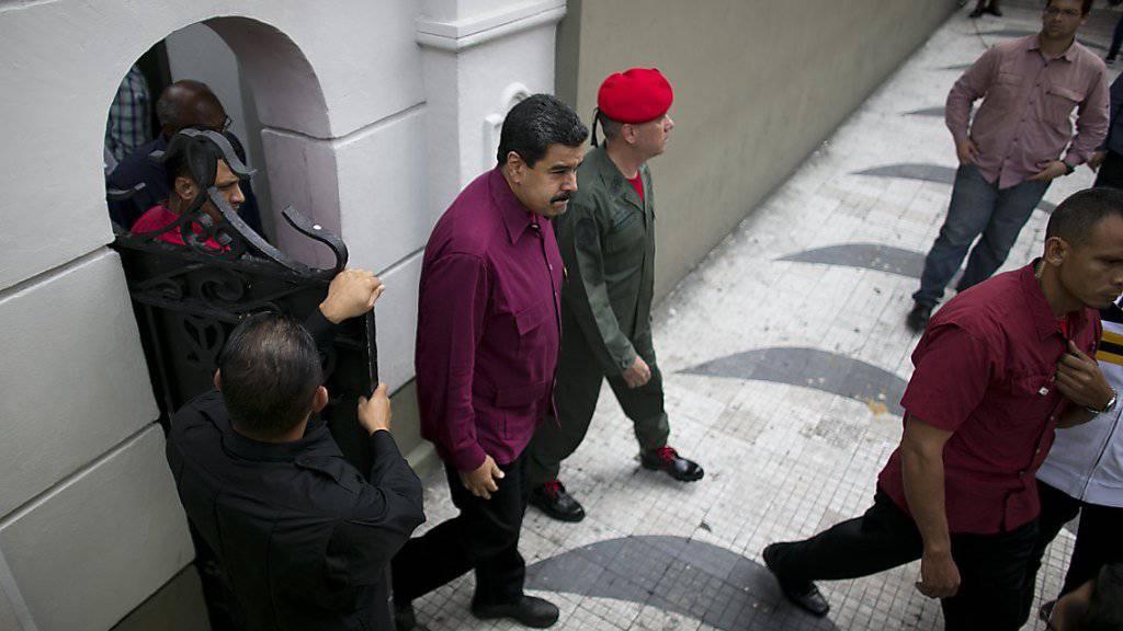 Venezuelas Präsident Maduro streckt seine «Hand zum Dialog aus» mit der Opposition. (Archivbild)
