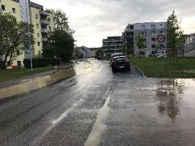 Küngoldingerstrasse am Sonntagmorgen