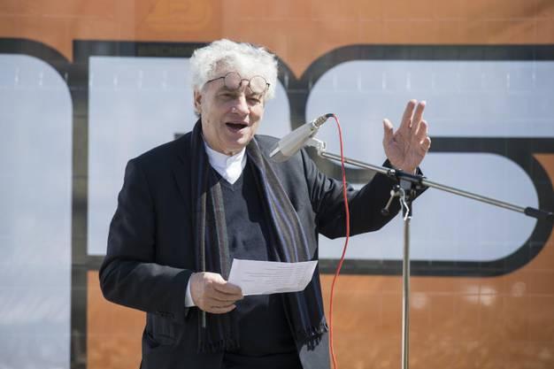 ... und Mario Botta, der Architekt des Thermalbads und Ärzte- und Wohnhauses,