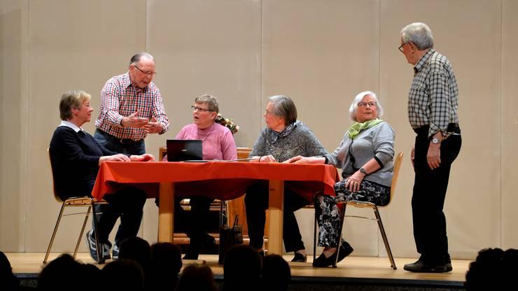 Die Seniorenbühne Biberist sorgte mit ihren kurzen Theaterstücken für viele Lacher.