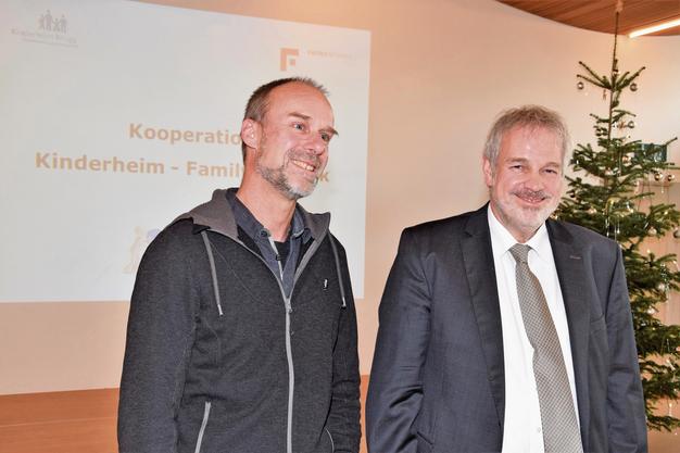 Rolf von Moos (rechts) übernimmt die Gesamtleitung der neuen Organisation, Beat Bachmann die Stellvertretung.