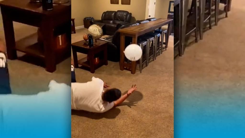 Eine Challenge zum Nachmachen: Der Ballon muss fliegen