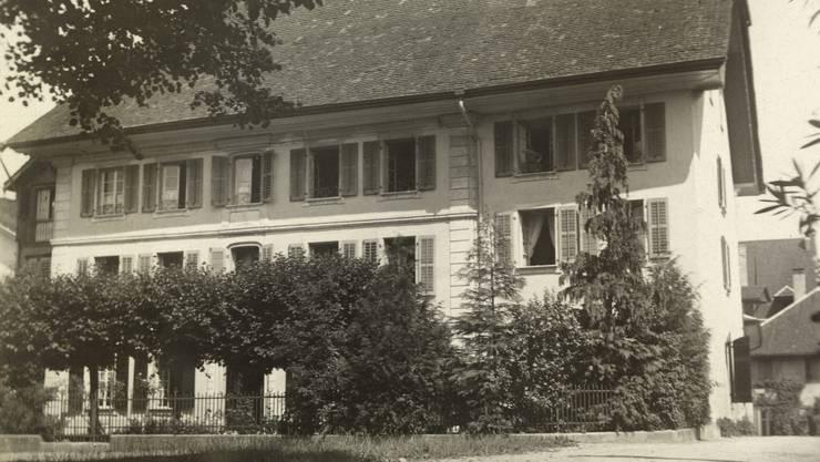 Der Lindenplatz; die Aufnahme stammt aus dem Jahr 1918.