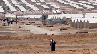 Flüchtlingslager für syrische Vertriebene in Jordanien (Symbolbild)