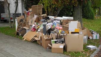 Aargauer Haushalte sammeln weniger Abfall als auch schon. (Symbolbild)