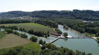 Mitteldamm Aare zwischen Schönenwerd und Aarau