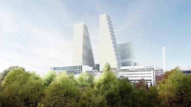 Roche-Turm prägt Skyeline von Basel