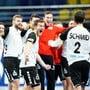 Jubeln mit Andy Schmid: Die Schweizer Handball-Nati nach dem glorreichen WM-Auftakt gegen Österreich.