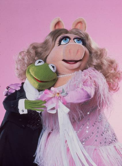 Es hat sich ausgequakt. Kermit und Miss Piggy (Photo by Hulton Archive/Getty Images)