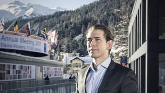 Kurz an der Sonne Der österreichische Aussenminister hatte am WEF in Davos eine volle Agenda.