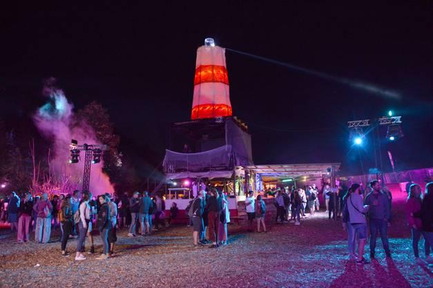 Zur Dekoration gehörte unter anderem ein Leuchtturm.