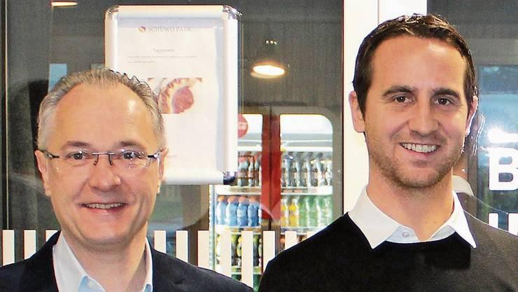 Buchs, 26. November: Sandro Burki (r.) und René Holenweger übernehmen mit «Marco Polo» am 1. Januar die «Schützenstube» in der Regionalen Schiessanlage (RSA) «Im Lostorf» bei der KVA Buchs. .