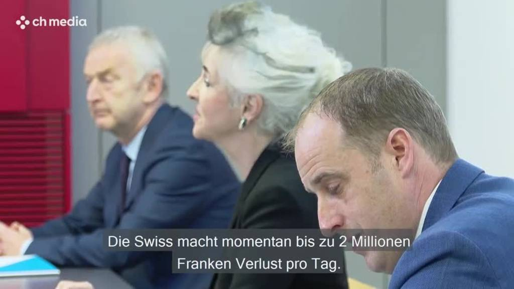 Swiss, Flughafen Zürich mit grossen Verlusten