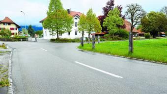 Abbiegen verboten: Lastwagen dürfen in Nennigkofen künftig nicht mehr von der Lüterkofenstrasse nach rechts in die Dorfstrasse einbiegen.