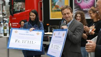 Kiwanis Baden sammelte 33'333 Franken für Kinder