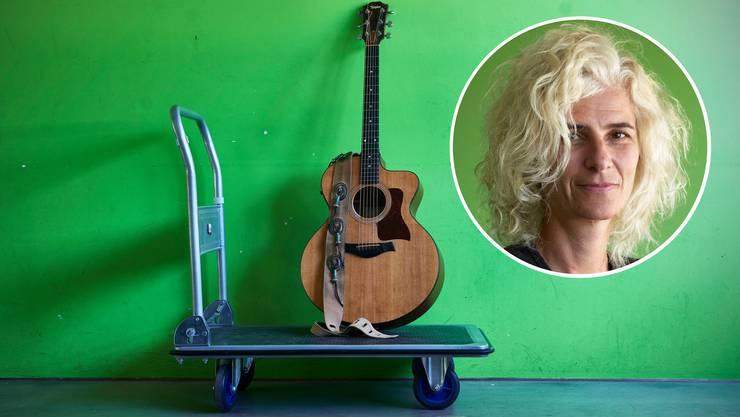 «Die Modellbezeichnung lautet 315G-irgendwas», doch Bettina Schelker nennt ihre Gitarre «Taylor».