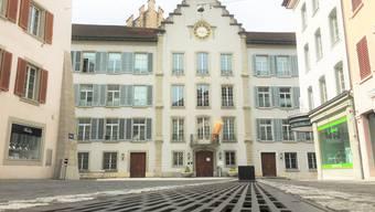 Das Rathaus in Aarau, aufgenommen am 21. April 2019.