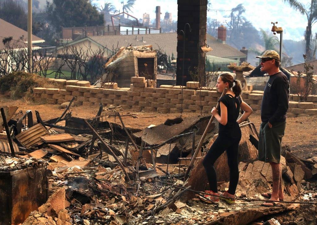 Feuerhölle in Kalifornien (© Keystone)