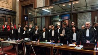 Anwälte im Prozess gegen Mehdi Nemmouche, der im jüdischen Museum in Brüssel vier Menschen erschossen hat, und seinen Komplizen.