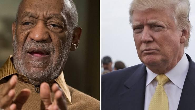 Werden nicht mit Sternentzug bestraft: Bill Cosby (l) und Donald Trump (Archiv)