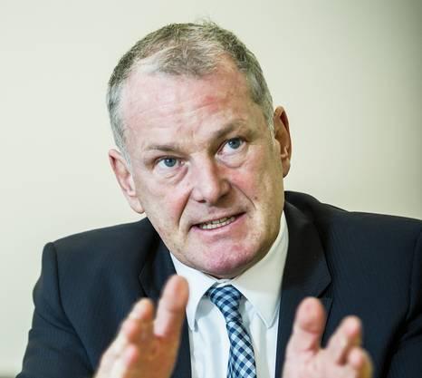 Regierungsrat Stephan Attiger wird Landammann im Jahr 2017. Der Badener leitet das Departement Bau, Verkehr und Umwelt (BVU). Aufgenommen am 20. Dezember 2016 in Aarau.