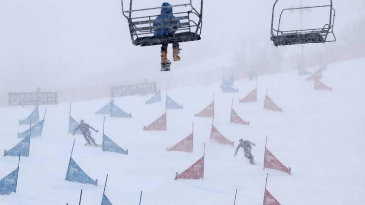 Das Wetter in Park City machte nicht nur den Alpin-Snowboardern zu schaffen