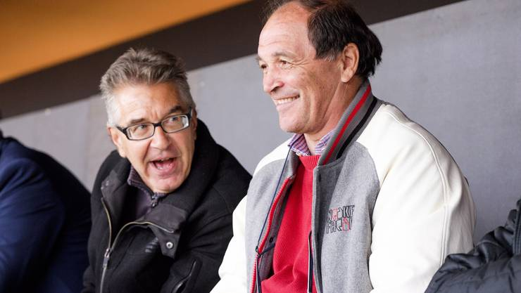az-Sportredaktor Ruedi Kuhn und FCA-Trainer Raimondo Ponte habens lustig – bis der Schlusspfiff ertönt und Vaduz einen Punkt holt.