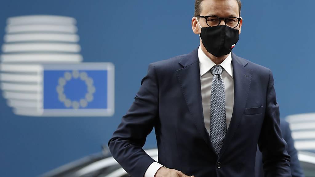 ARCHIV - Mateusz Morawiecki, Ministerpräsident von Polen, kommt zum Gipfel der EU-Staats- und Regierungschefs. Foto: Johanna Geron/Pool Reuters/AP/dpa
