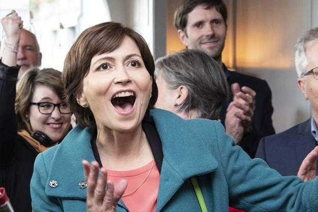 Auf den Jubel am Wahltag, 20. Oktober, folgte die Ernüchterung im Bundesrats-Poker: Grünen-Präsidentin Regula Rytz.