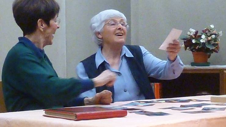 Mitglieder der Seniorenbühne Biberist in Aktion