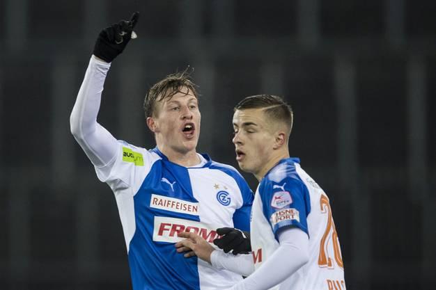 Der Ex-Hopper Emil Bergström (links) wechselt leihweise zum FC Basel.