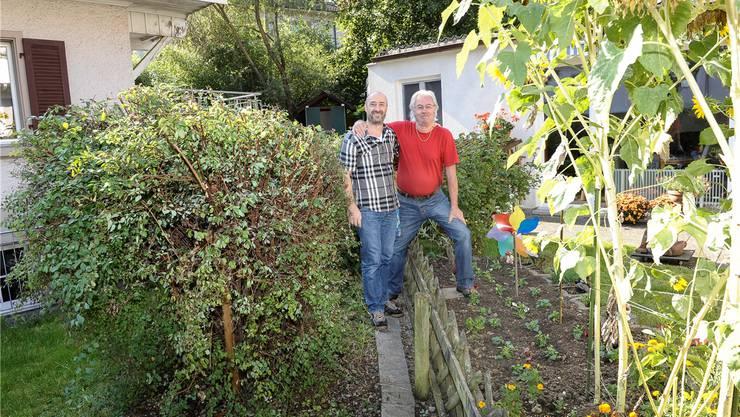 Grenzgänger: die Nachbarn Giovanni Maltese (links, BS), Hans Oehler (BL).Mto