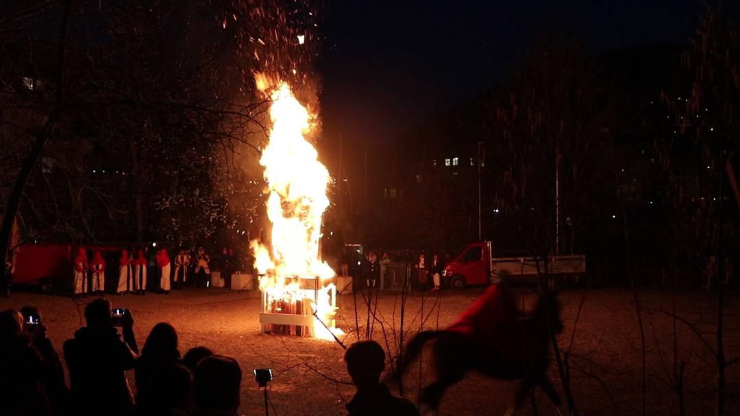 Baden: Der Füdlibürger brennt und chlöpft, die Fasnacht ist eröffnet