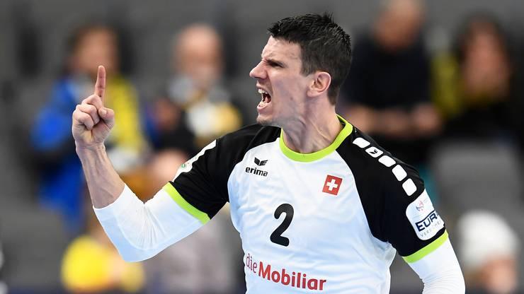 Andy Schmid führte die Schweiz mit 15 Toren zum 31:24-Sieg gegen Polen.