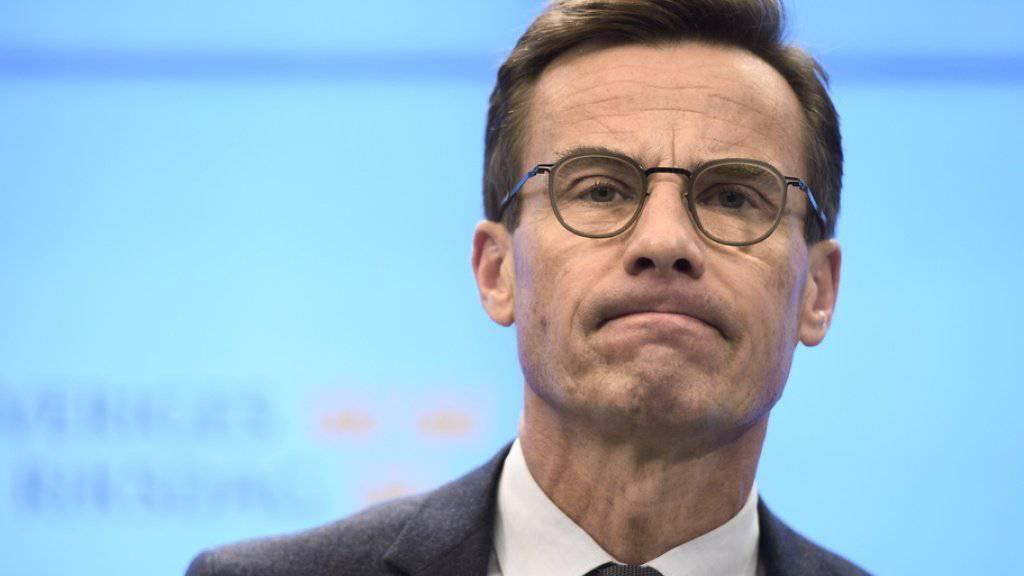 Ulf Kristersson am Mittwoch in Stockholm nach seiner Niederlage im Parlament.