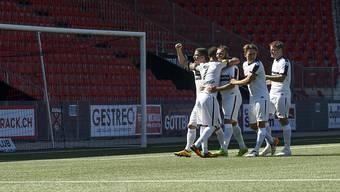 Waren zum zweiten Mal in Folge siegreich: die Spieler des FC Wil (Archivbild)