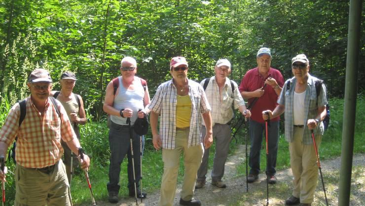 Gruppe im Aufstieg zum Stoffel