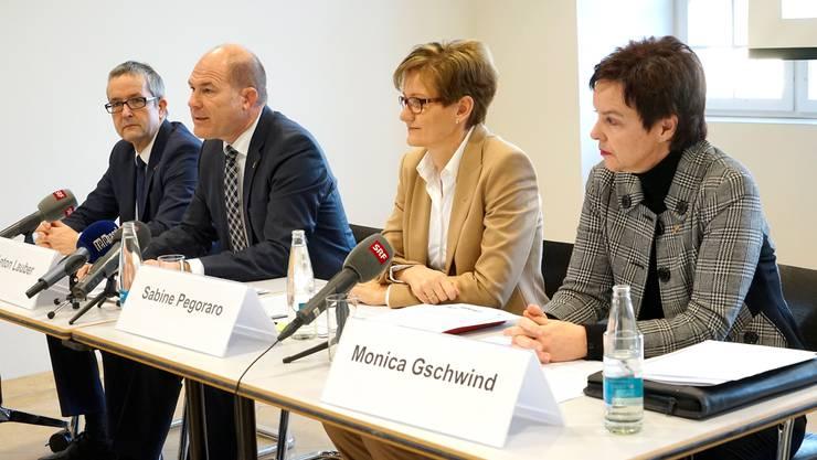 Thomas Weber, Anton Lauber, Sabine Pegoraro und Monica Gschwind