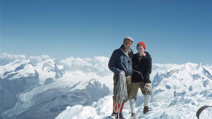 1959: Fritz und Susi Knöpfel aus Bremgarten, noch heute im SAC, bestiegen auf der Hochzeitsreise das Matterhorn.