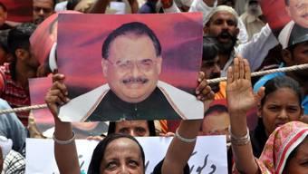Anhänger von Altaf Hussain in Karachi (Archivbild)