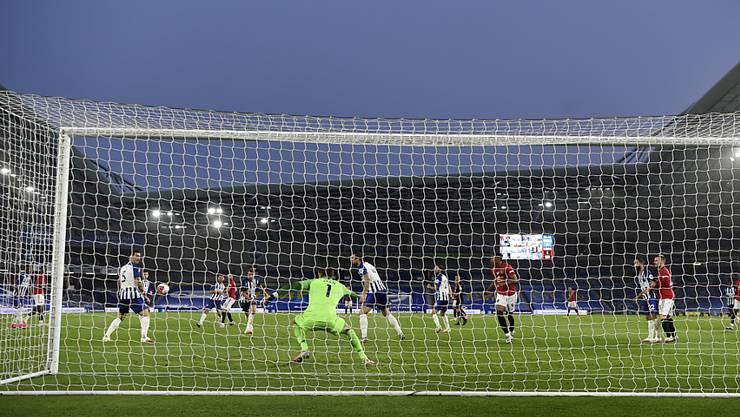 Bruno Fernandes erzielt das 2:0 in Brighton - und doppelt später nach