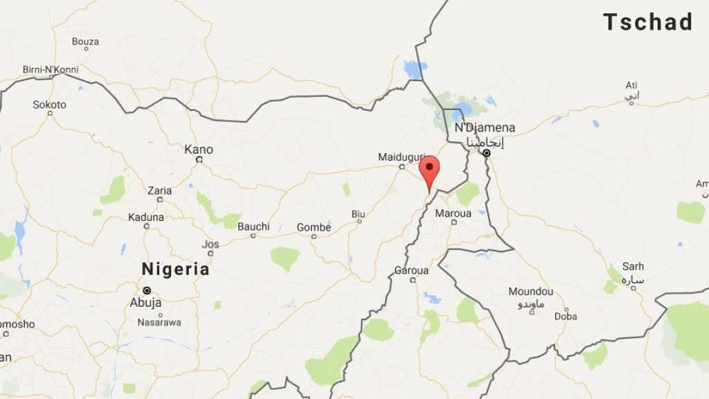 Beim nigerianischen Dorf Pulka im Grenzgebiet haben Boko Haram-Kämpfer erneut mehrere Mädchen verschleppt. (Bild googlemaps)