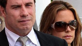 John Travolta mit seiner Frau Kelly Preston