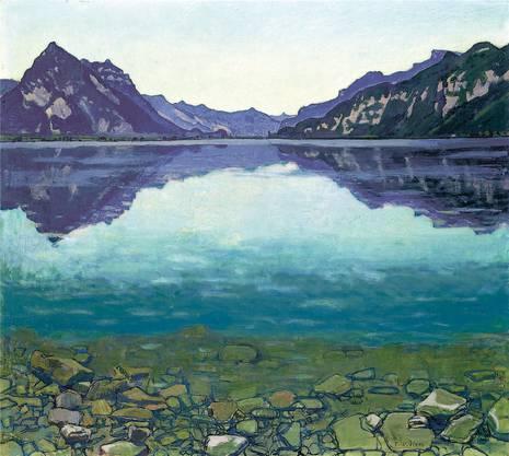 «Thunersee mit Spiegelung» 1904, Öl auf Leinwand
