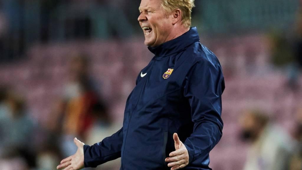 Im Moment nicht viel Spass an seiner Arbeit: Barça-Trainer Ronald Koeman