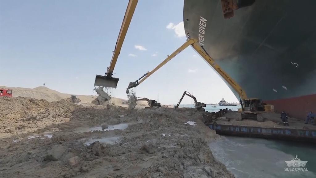 Suez-Blockade bremst Welthandel auch nach Bergung