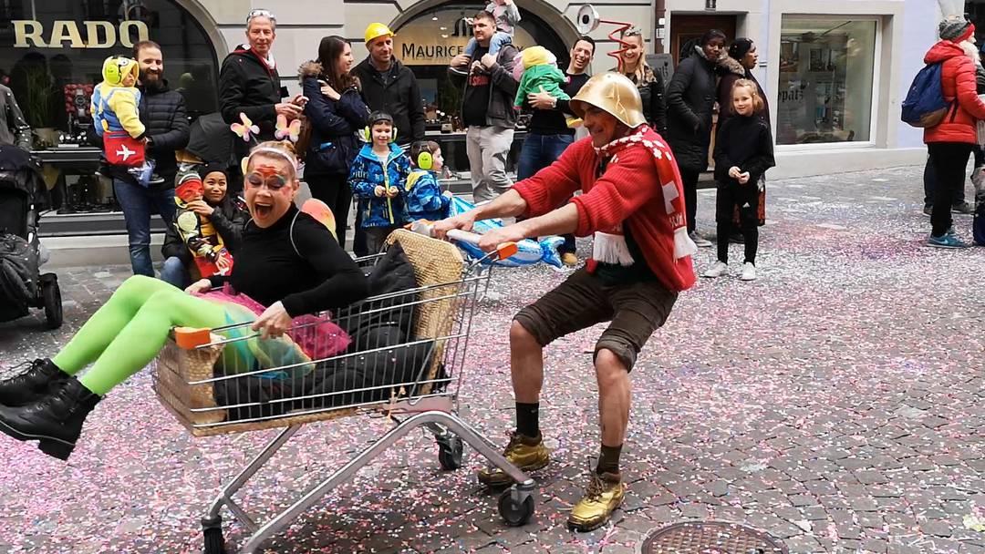 Willst du mit einkaufen gehn? Fasnachtsumzug Bremgarten 2019