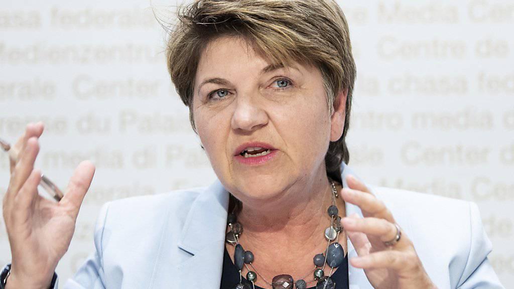 Die Walliserin Viola Amherd ist seit sechs Monaten Schweizer Verteidigungsministerin. (Archivbild)